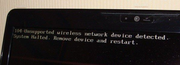 """Fix """"Unsupported wireless network device detected. System Halted"""" Error"""